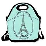 Best nfl Reusable Hand Warmers - Beautiful Paris Eiffel Tower Mint Green Lunch Handbag Review