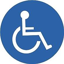 INDIGOS UG Autosticker voor gehandicapten, 95 x 95 mm, stickers voor gehandicapten, auto, vervoer van ziektes