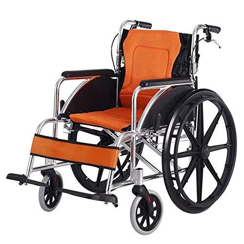 铝 Alloy Stuhl, Flug Origami Old Man Fee Verweilen Hand Stuhl Super-轻 Travel Chair (Color : Orange)