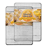 Hiware 2-Pack Cooling Racks for Baking - 10' x 15' - Stainless Steel Wire Cookie Rack Fits Jelly Roll Sheet Pan, Oven Safe for Cooking, Roasting, Grilling