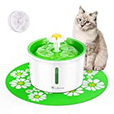 isYoung Cat Fountain 1.6L Automatic Pet Water Fountain Pet Water Dispenser, Dog/Cat Health Caring Fountain and...