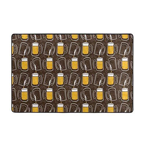 Alfombras de área, alfombras de Piso Antideslizantes de Cerveza, Alfombrilla de decoración para el hogar, 60 'x 39' para Sala de Estar, Sala de Juegos