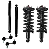 Detroit Axle 171358 Front Loaded Strut Complete Assembly, Front Sway Bars, Rear Shocks for Infiniti QX56, Nissan Armada, Nissan Titan - 6pc Set