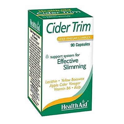 HealthAid Cider Trim - Lecithin, Apple Cider Vinegar - 90 Capsules by HealthAid