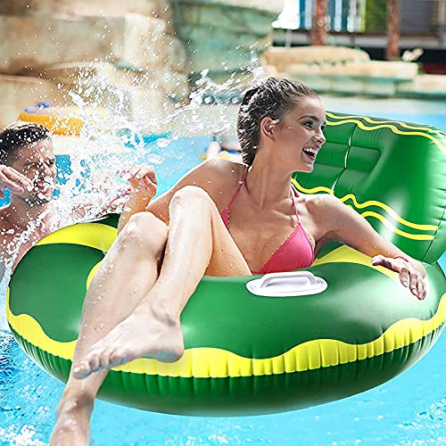 Taloit Inflatable Pool Float Raft with Cup Holder and Handles Multi-Purpose Portable Long Lasting Convenient for Adults Kids