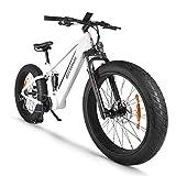 Accolmile Bicicleta Eléctrica para Fat Tire Beach Snow Bicicleta eléctrica de 26 Pulgadas, Motor BAFANG 48V 750W/1000W Mid con batería de Litio extraíble de 14Ah/12.8Ah