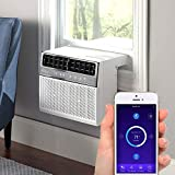 """Soleus Air Exclusive 8,000 BTU Energy Star First Ever Over The Window Sill Air Conditioner Revolutionary Safety Class and Whisper Quiet, Keep Your Window View, With WiFi, Google Home, and Alexa (Fits up to 11"""" Wide Window Sill)"""
