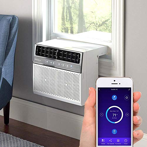 Soleus Air Exclusive 6,000 BTU Energy Star First Ever Over The Window Sill Air Conditioner Revolutionary Safety Class and Whisper Quiet, Keep Your Window View, With WiFi, Google Home, and Alexa (Fits up to 11' Wide Window Sill)