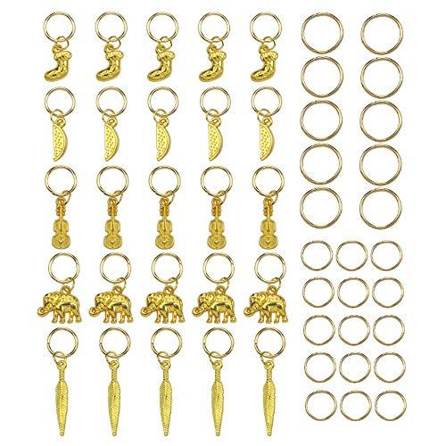 Allring 50 stuks haarsieraad zweep charm hanger voor sieraden knutselen armband ketting oorbel gemengde bedels antiek zilver & brons