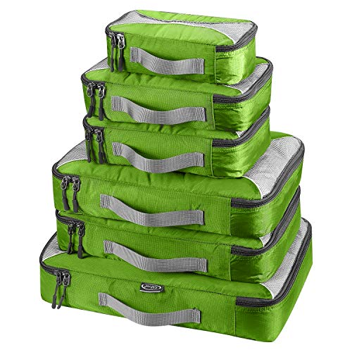 G4Free 3/6/7pcs Packwürfel Verpackung Cubes Wert für Reisegepäck Organisatoren