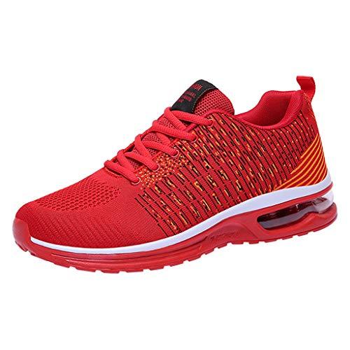 FRAUIT Herren Sneakers Mesh Laufschuhe Turnschuhe Sportschuhe Luftkissen Straßenlaufschuhe Atmungsaktiv Rutschfest Trainer für Running Fitness Gym Outdoor