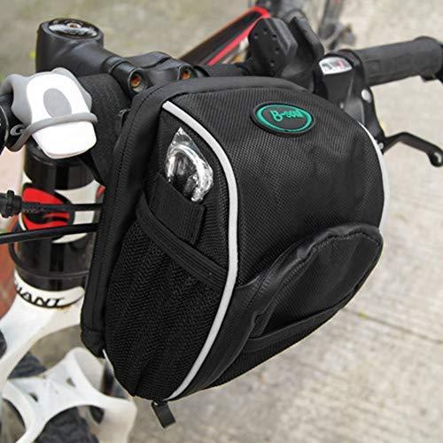 Bolsa de manillar de bicicleta bolsa delantera impermeable extraíble para exterior bolsa de almacenamiento para bicicleta de montaña moto bolsa trasera de bolsillo con funda de lluvia y correa
