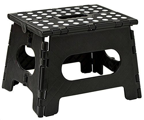 Folding Step Stool  The Lightweight Step Stool is Sturdy Enough to Support Adults and Safe Enough for Kids Opens Easy with One Flip Great for Kitchen Bathroom Bedroom Kids or Adults
