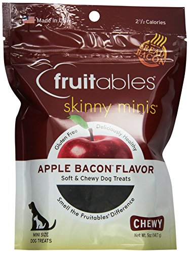 Fruitables 953031 12-Pack Fruitables Apple/Bacon Treat For Pets, 5-Ounce