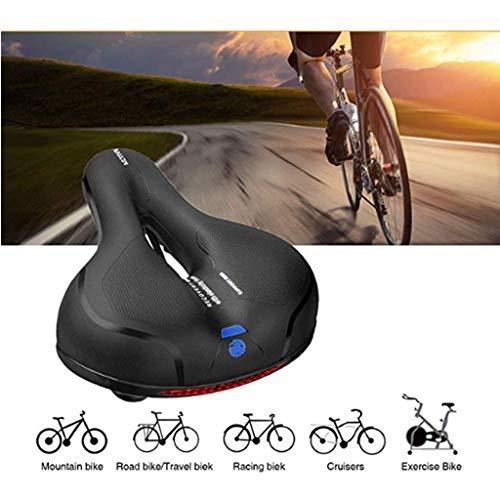 Allasfun Comfort Wide Big Bum Bike Bicycle Gel Cruiser Extra Sporty Soft Pad Saddle Seat (B)