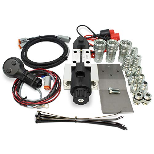 Universal Hydraulic Third Function Valve Kit w/Joystick Handle, 15 GPM, 1/2' Ag Couplers & Fittings