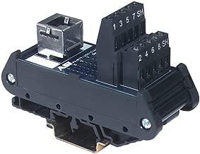 ASI 16001, Type IMRJ0845, RJ45 Breakout Terminal Block Interface Module, Female RJ45 Connector, 8 Screw Terminal Blocks, 26 to 12 AWG, 1.40
