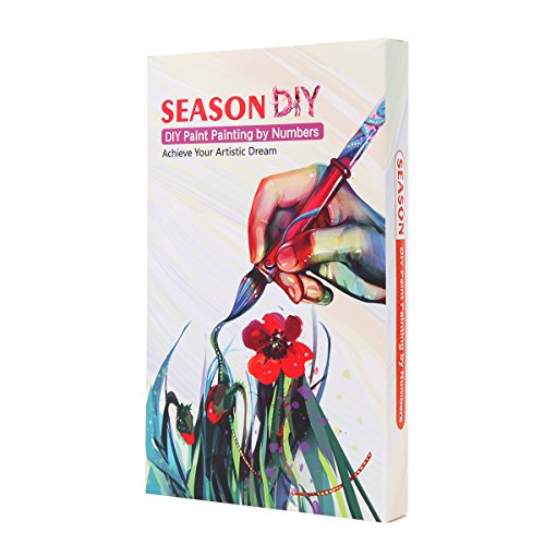 DIY Painting by Numbers for Adults, Paint by Number Kit On Canvas for Beginners, New Painters, Gift Package from SEASON (Elephant)