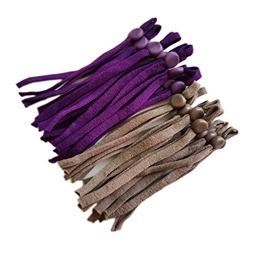 20 Purple 20 Grey Elastic String Bands for Mask DIY with Adjustable Buckle Cord Lock Masks Sewing - 1/5 inch Adjustable Stretchy Mask Earloop Lanyard Earmuff Rope 40 Pcs (color3, 1/5 inch)