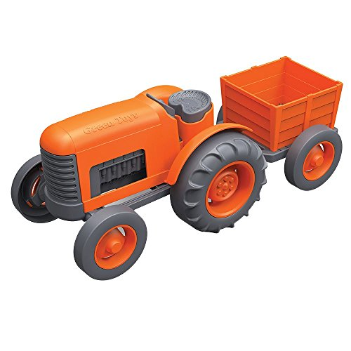 Product Image of the Green Toys Tractor Vehicle, Orange