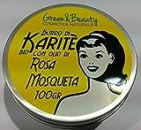 BURRO DI KARITE BIOLOGICO ROSA MOSQUETA