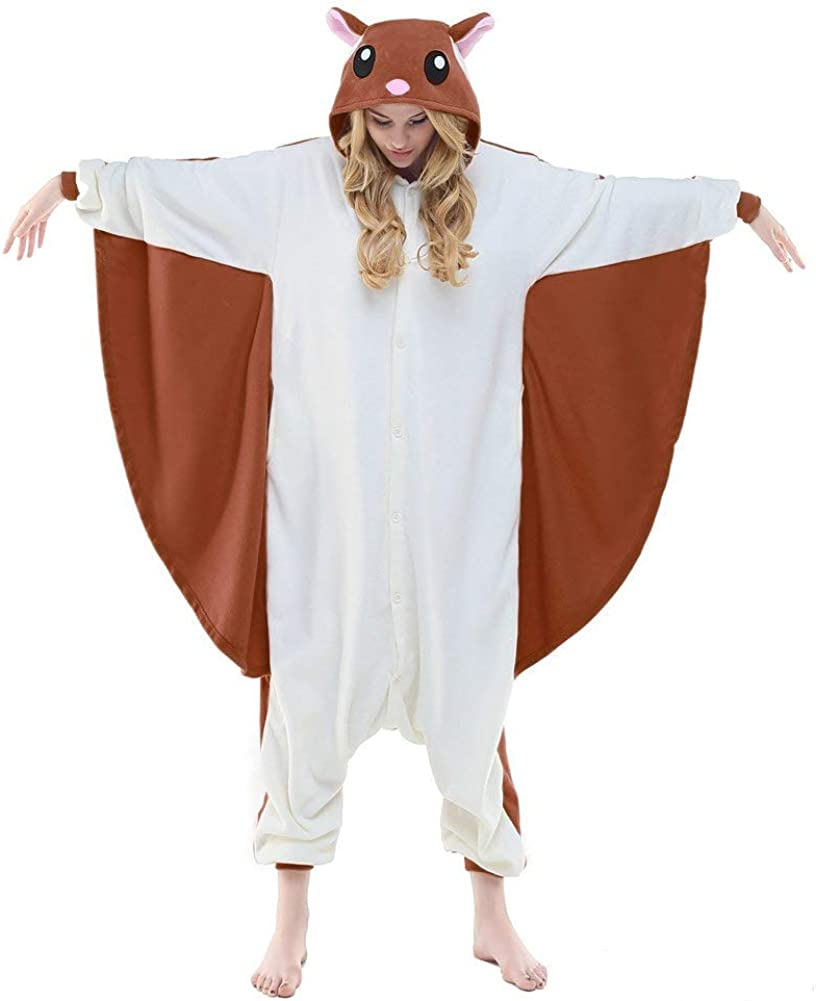 NEWCOSPLAY Unisex Adult Kid Flying Japan's largest assortment Squirrel 5% OFF P Pajamas- Plush One
