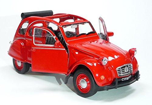 Citroen 2CV rot offen Welly, Ente, Modellauto
