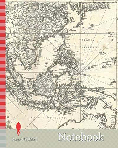 Notebook: Map, Indiae Orientalis nec non insularum adiacentium nova descriptio, Nicolaes Jansz. Visscher (1649-1702), Copperplate print