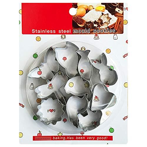 moldes galletas Cortador de galletas de animales 10 piezas, cortador galletas de acero inoxidable para bricolaje, utilizados para fondant, galletas, decoración de pasteles.