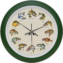 Mark Feldstein Splashing Gamefish Hourly Fishing Sounds Wall/Desk Clock, 13 Inch