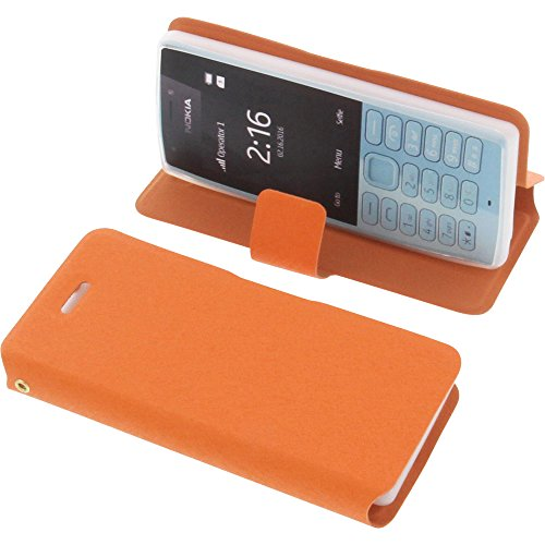 foto-kontor Tasche für Nokia 216 Book Style orange Schutz Hülle Buch