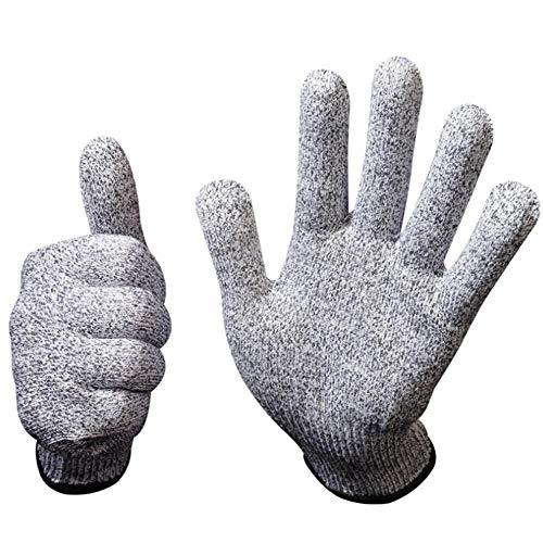 WSYW Schnittschutzhandschuhe Lebensmittelqualität Stufe 5 Schutz Küchenschnitte Handschuhe zum Fleischschneiden Holzbearbeitung Gartenpflege Sicherheitsarbeitshandschuhe 1 Paar (XL-26cm)