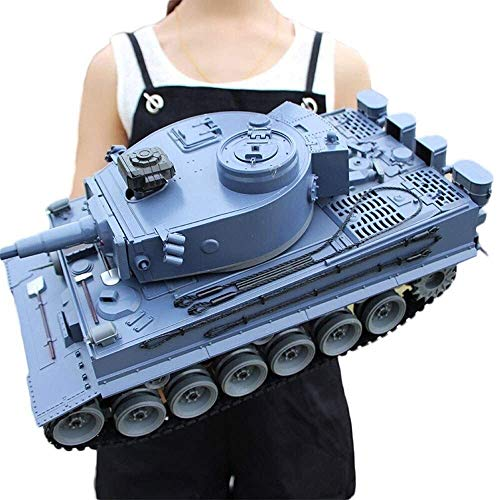 Toy Gift 50cm Large RC Tank Toys 2.4GHz Radio Remote Control Military Vehicle Armored Battle Tanks Turret Rotation Light Music RC Model Cross-Country Tracked Infrared RC Simulation Chariot for Boys