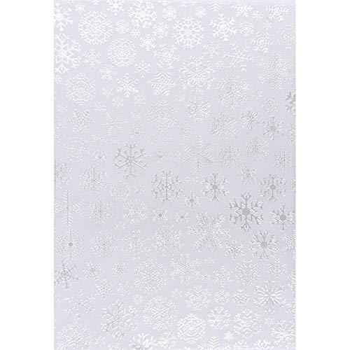 Premium-Transparentpapiere, Nova Noblesse mit Top-Prägung & Perlmuttlack, DIN A4, 5 Bogen (weiß, Design 05)