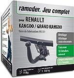 Rameder Attelage rotule démontable pour Renault KANGOO/Grand KANGOO + Faisceau 13 Broches (161390-06447-1-FR)