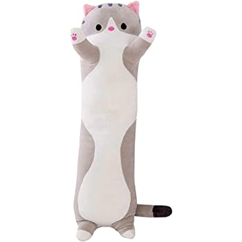 Giant Shark Plush, Amazon Com Bouanq Super Soft Plush Toy Long Cotton Cute Cat Doll Plush Toy Soft Stuffed Sleeping Pillow Great Gift For Your Lovely Girlfriends Or Your Cute Kids 35inch Gray Kitchen