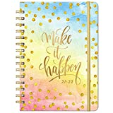 """2021-2022 Planner - Weekly & Monthly Planner with Monthly Tabs, Jul 2021 - Jun 2022, 6.3"""" x 8.4"""", Flexible Hardcover with Thick Paper, Elastic Closure & Inner Pocket"""