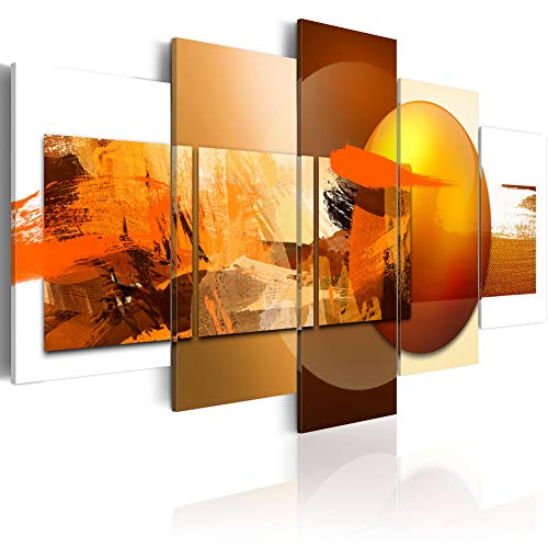"""Canvas Prints Art Modern 5 pieces Wall Picture Abstract Sphere Pros and Cons Painting Orange Artwork Framed Home Decoration Bedroom Living Room ( CL14, Small W40"""" x H20"""")"""