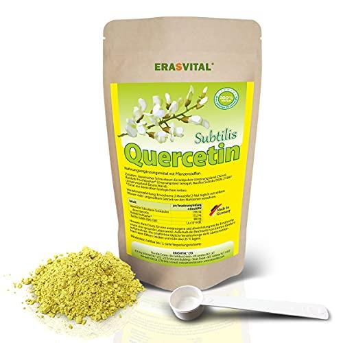ERASVITAL® Quercetin Subtilis 100 g Pulver Quercetin mit Baobab-Fruchtpulver und Bacillus Subtilis DSM 21097