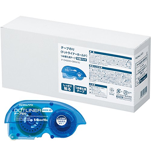 Kokuyo tape lijm dot liner houden nagels 10 voor het sorteren van gegevens -D4200-08NX10
