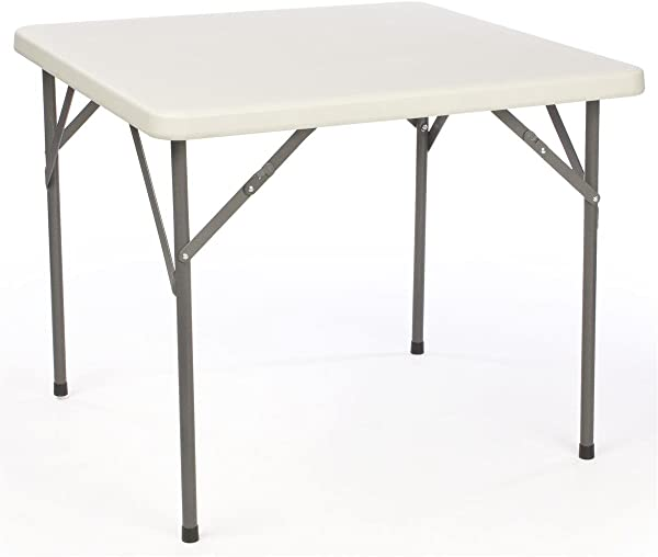 Displays2go Square Folding Table With Molded Top 34