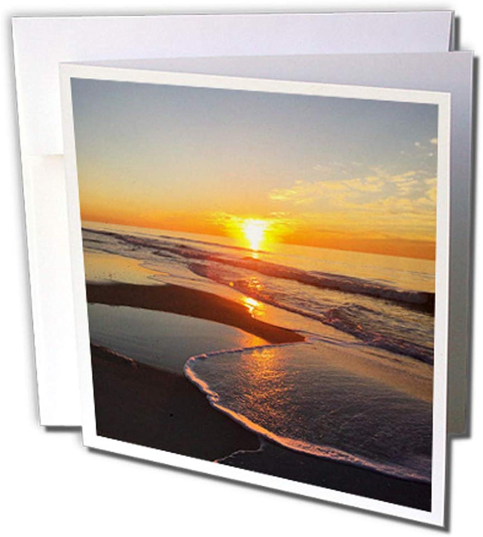 3dRosa gc_232844_2 Grußkarten Sonnenaufgang am Ozean , 15 x 15 cm, 12 Stück B07F8KKD76 | Neuartiges Design