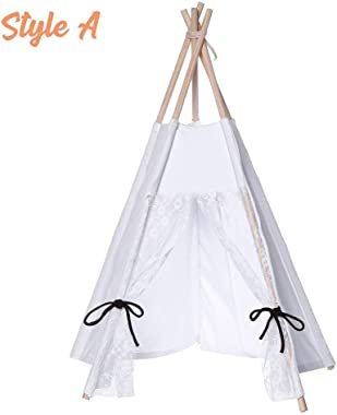 Generies Kids Canvas Play Tent Children Teepee Secret Castle Play House Playhouse