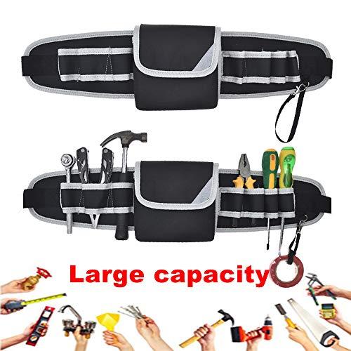 Werkzeuggürtel Verstellbare Tool Belt Robustem Wasserdicht mit 1 Werkzeugtasche 7 Schlaufen...