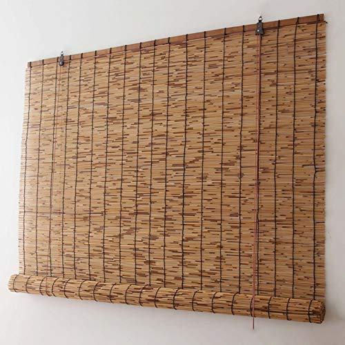 YANYAN Cortina De Caña Exterior Natural Enrollable De Bambú Persianas De Caña Naturales Tejidas A Mano Estores De Bambú 120x 200cm Medidas De Estores De Bambú/52 Tamaños