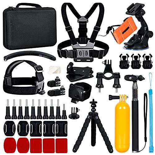 JULUCLKJ 50-in-1 Action-Kamera Zubehör Kit, Kompatibel mit GoPro Max GoPro Hero 9 8 7 GoPro Fusion, AKASO, INSTA360 ONE, Sargo, SJCAM, XIAOMI YI 4k Action-Kamera