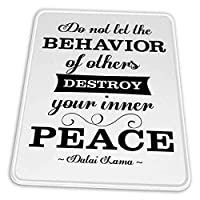 マウスパッド ゲーミングマウスパッド-ダライ・ラマは、他人の行動があなたの平和のやる気を起こさせる白を破壊させてはいけません滑り止め デスクマット 水洗い 25x30cm
