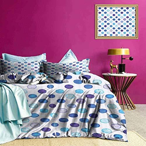 Juego de Colcha de Colcha Tonos Azules Estampado Funky Suave Ropa de Cama cómoda Muy Suave, cómoda y Elegante