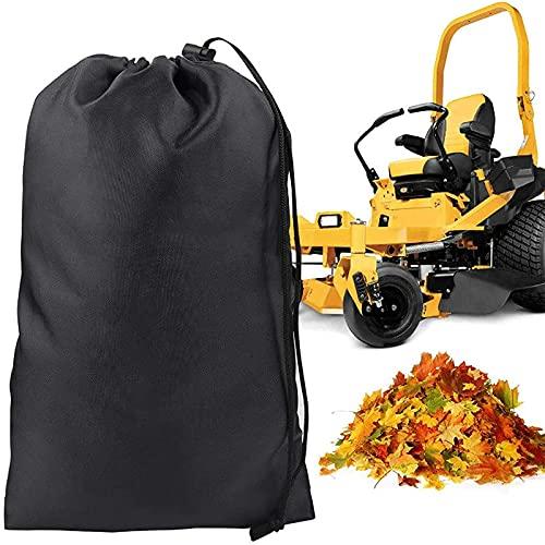 Bolsa de hojas para tractor de césped, cortacésped resistente al desgarro, bolsa de almacenamiento de hojas para recolector de césped, bolsa de residuos reutilizable para recoger hojas