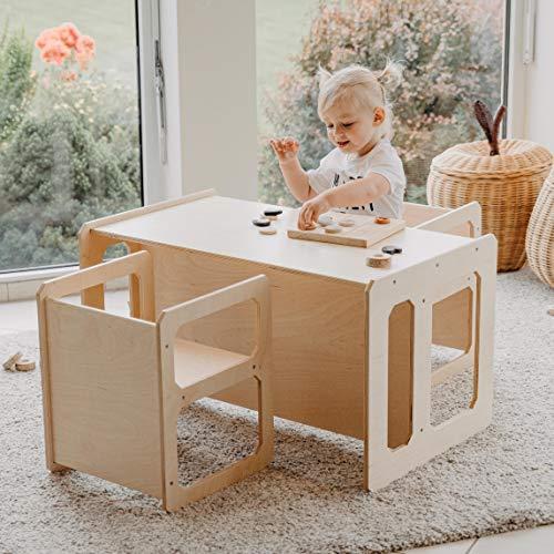 Sweet Home de madera juego de mesa para niños | Juego de mesa para niños | Mesa de aprendizaje preescolar | Mesa de destete | Mesa de juego para niños (lacado)